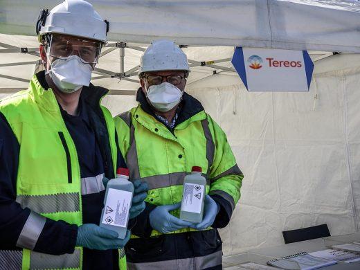 Tereos fait don de gel hydroalcoolique aux banques alimentaires