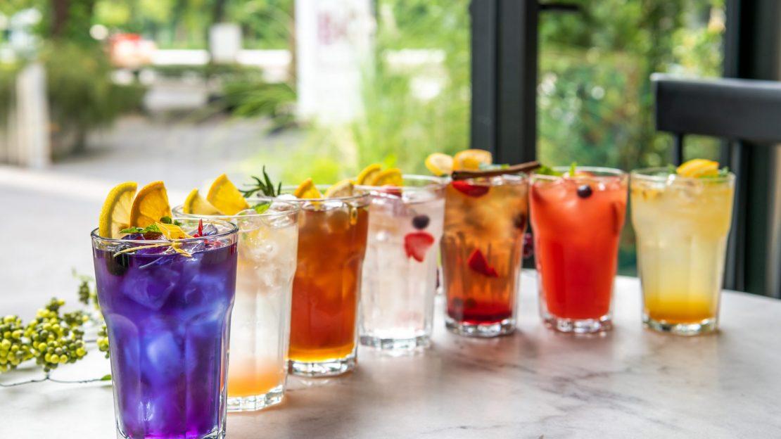 Italian,Sodas,On,The,Table,Close-up