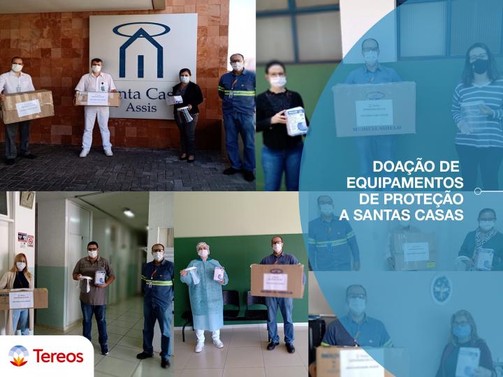 Tereos doa kits com Equipamentos de Proteção Individual a Santas Casas